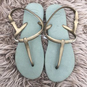 NWOT Havaianas grey thong sandals - size 6.5